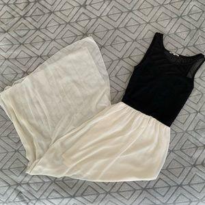 Charlotte Russe- Two-Toned Black & Cream Dress